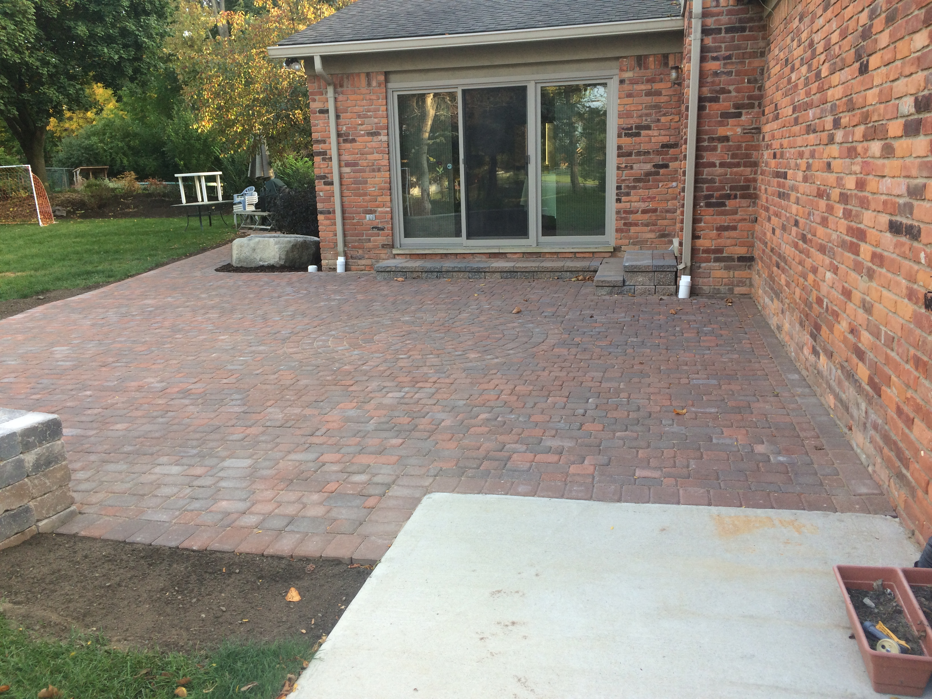 Patio Addition With A Small Sitting Wall Great Lawns Blog - Patio addition