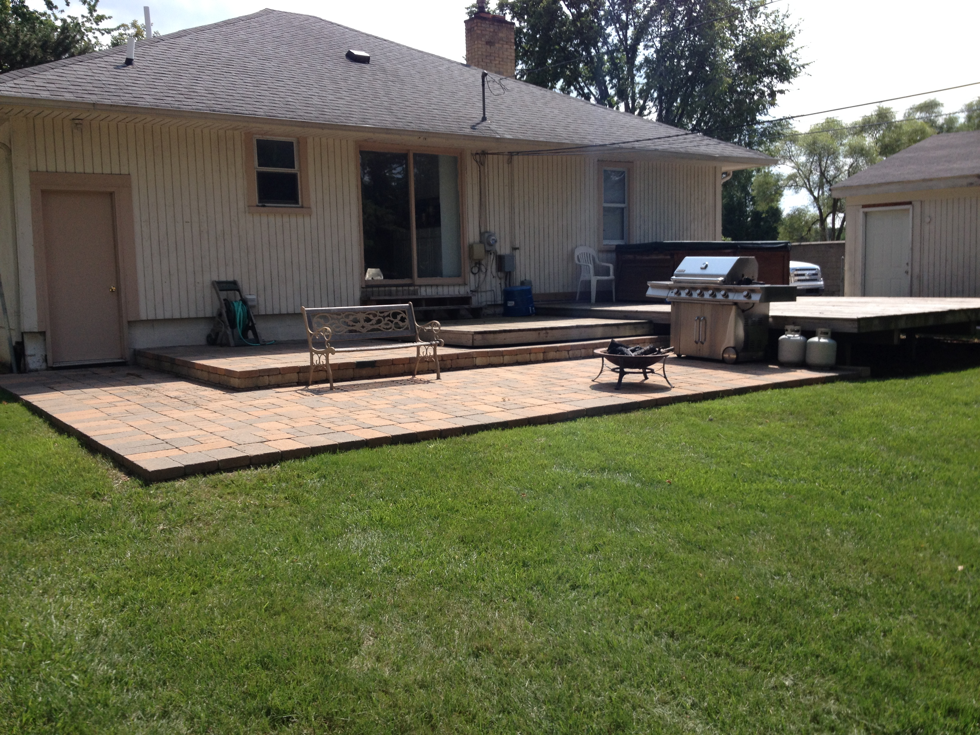 how to build a brick patio deck